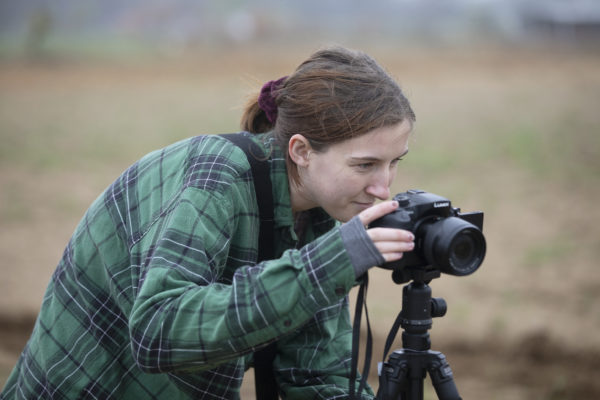 Sierra Dunne filming