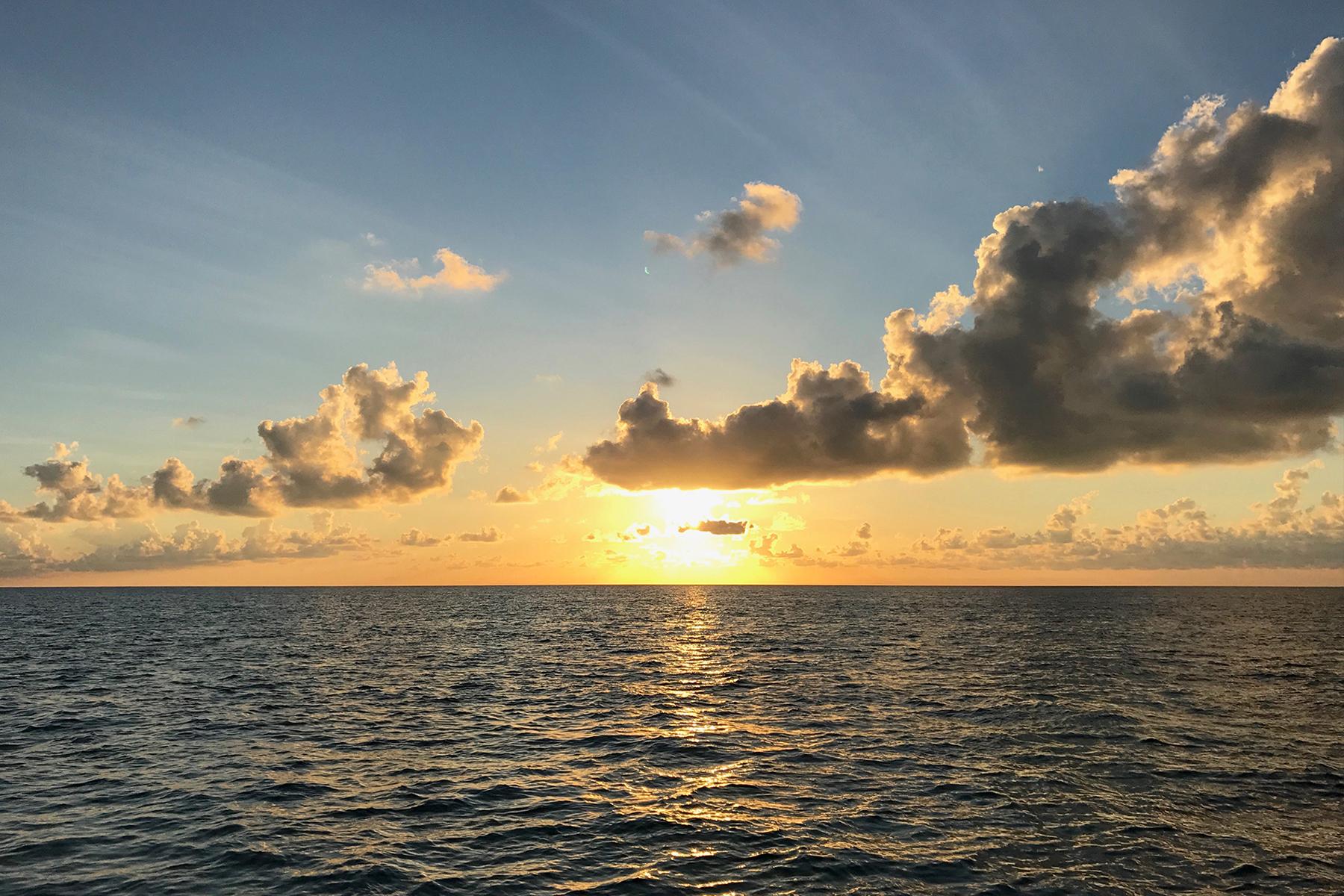 a sunrise over the Atlantic