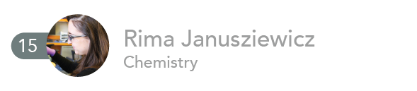 Rima Janusziewicz, Chemistry