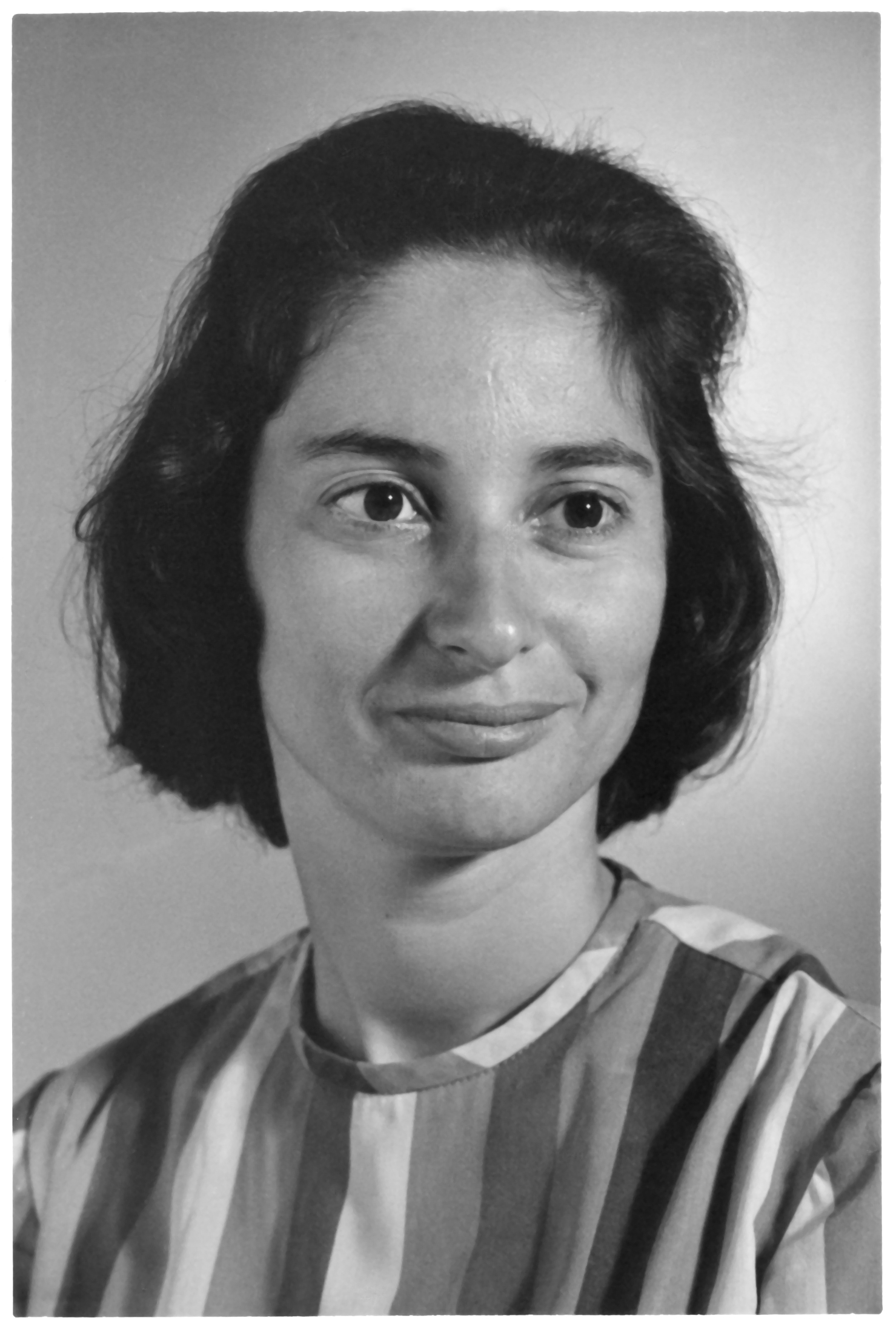 Black and white studio headshot photo of Deborah Dexter as a young faculty member.
