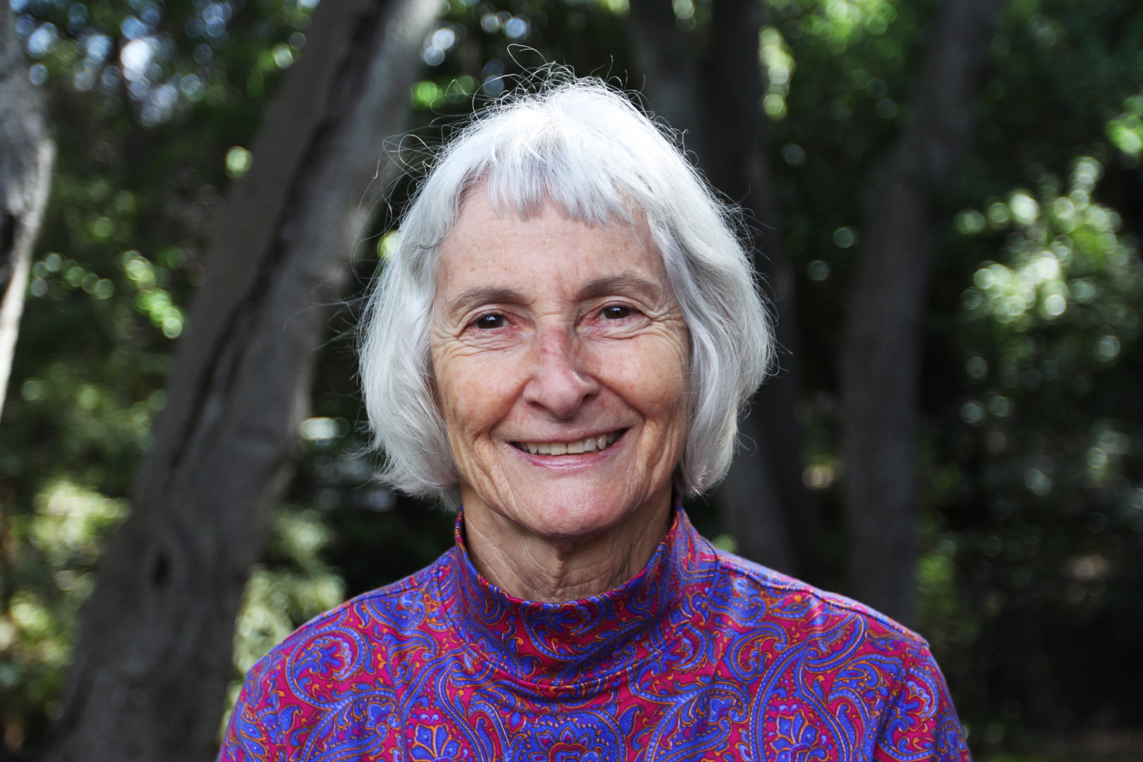 Dexter at her home in Los Altos, California. While she is retired from teaching, Dexter remains active in the local community. Photo by Mary Lide Parker
