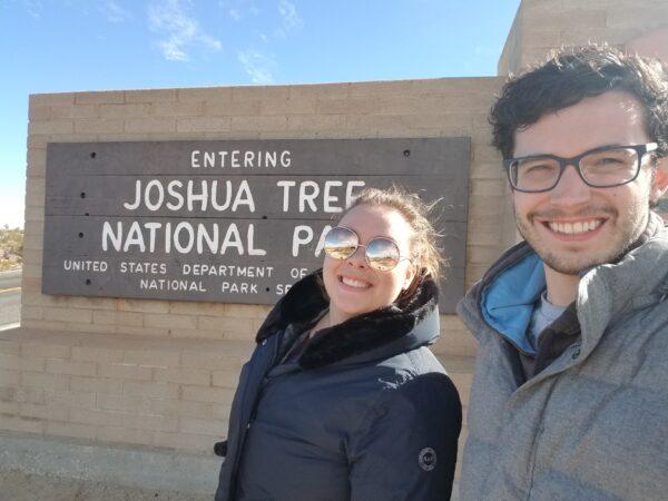Rachel Woodul and Jordan Clark at Joshua Tree National Park