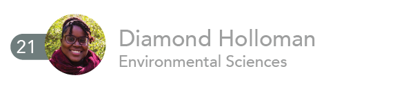 Diamond Holloman, Environment and Ecology