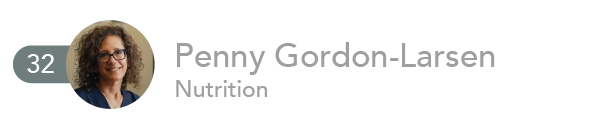 Penny Gordon-Larsen, Nutrition