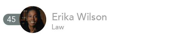 Erika Wilson, Law