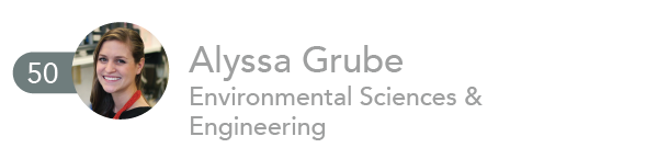 Alyssa Grude, Environmental Sciences and Engineering