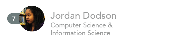 7. Jordan Dodson, Computer Science & Information Science.