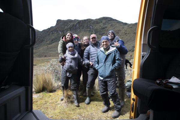 From left to right: Anayancy Estacio-Manning, Maribel Herrera, Megan Raisle, Chloe Schneider, Andrew Murray, Diego Riveros-Iregui, and Nehemia Stewart