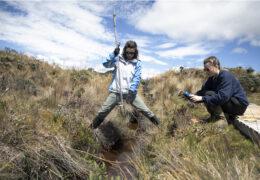 Tessa Davis and Liz Farquhar conduct fieldwork in the North Andean Paramo