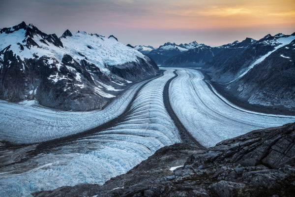the Gilkey Trench of the Juneau Icefield