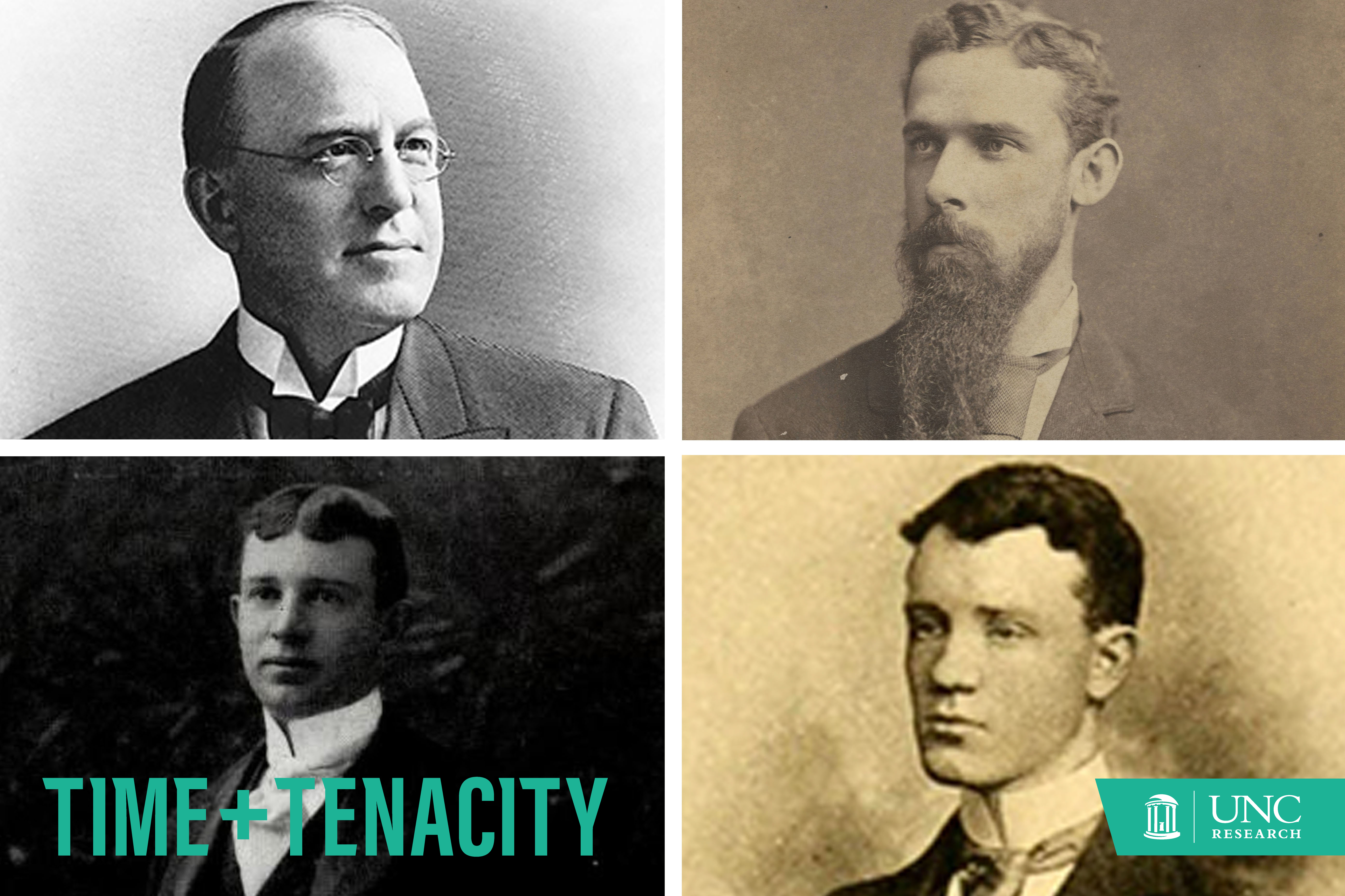 Portraits of James Turner Morehead, John Motley Morehead the third, Francis Venable, and William Rand Kenan, Jr.
