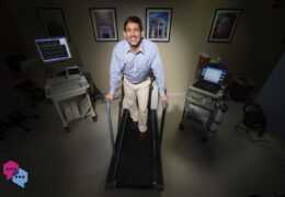 Claudio Battagliniat at the Exercise Oncology Research Laboratory in Fetzer Hall on the campus of UNC-Chapel Hill