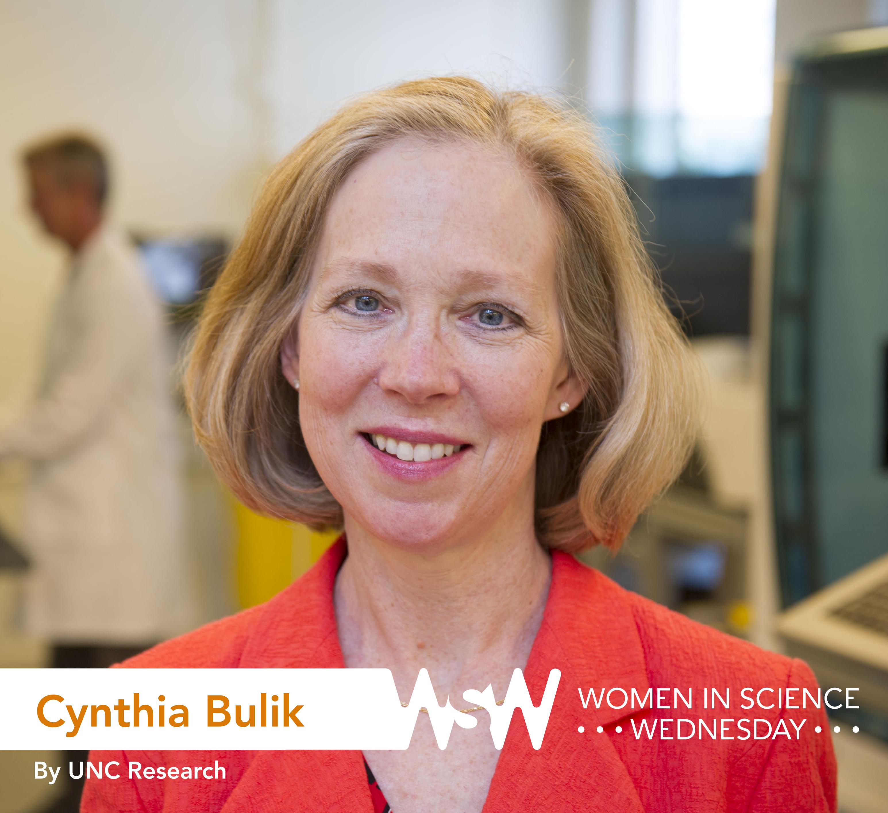 Portrait of Cynthia Bulik in the lab.