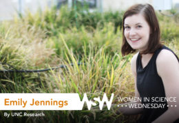 Portrait of Emily Jennings on campus.
