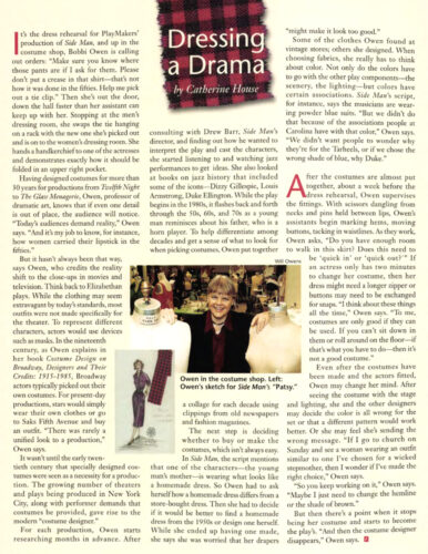 screen shot of Endeavors article on Bobbi Owen from Spring 2001