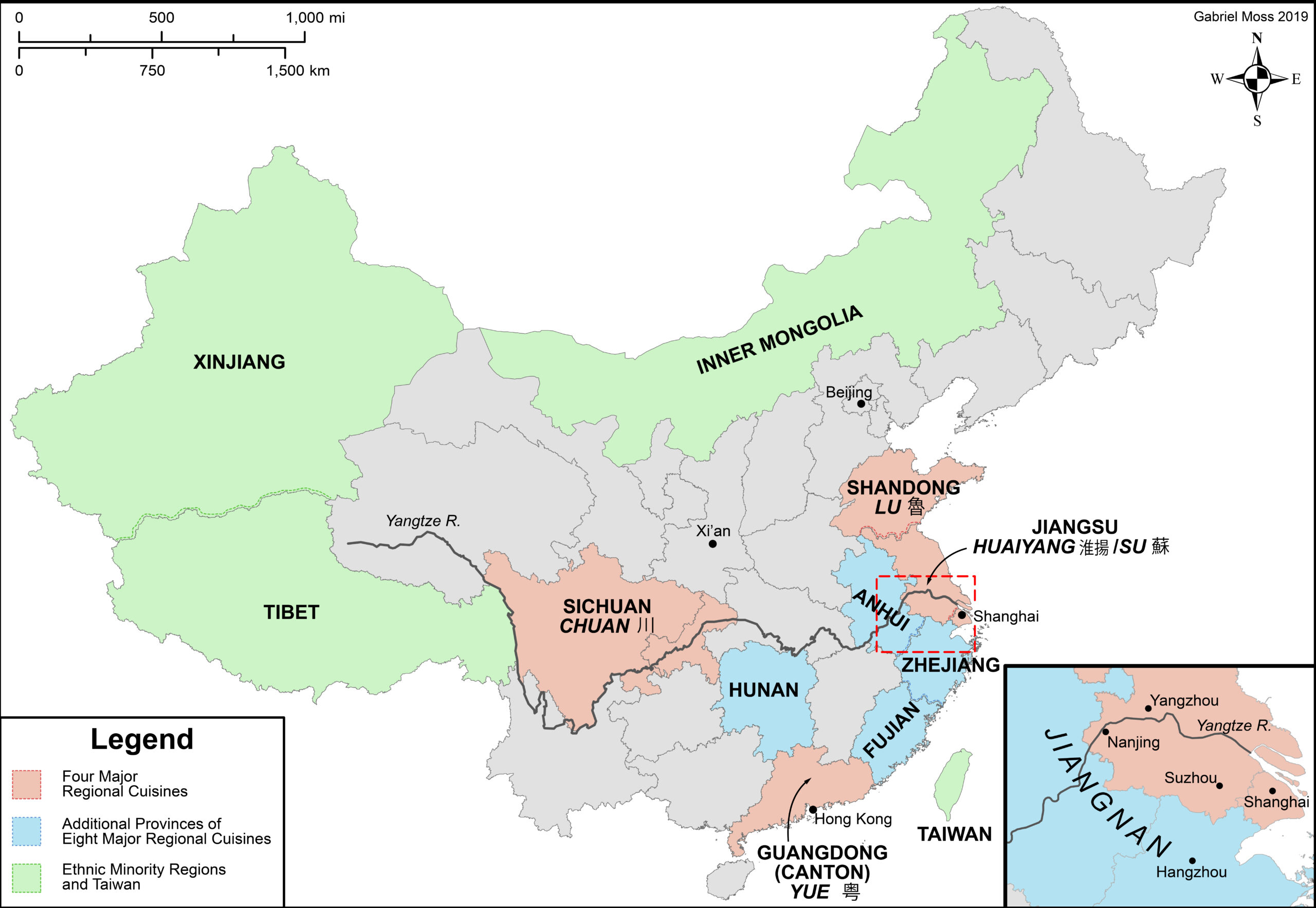 A map of China's culinary regions