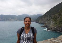 Photo courtesy of Folami IderaabdullahFolami hiking through Cinque Terre, Italy, stopping to sample some limoncello.