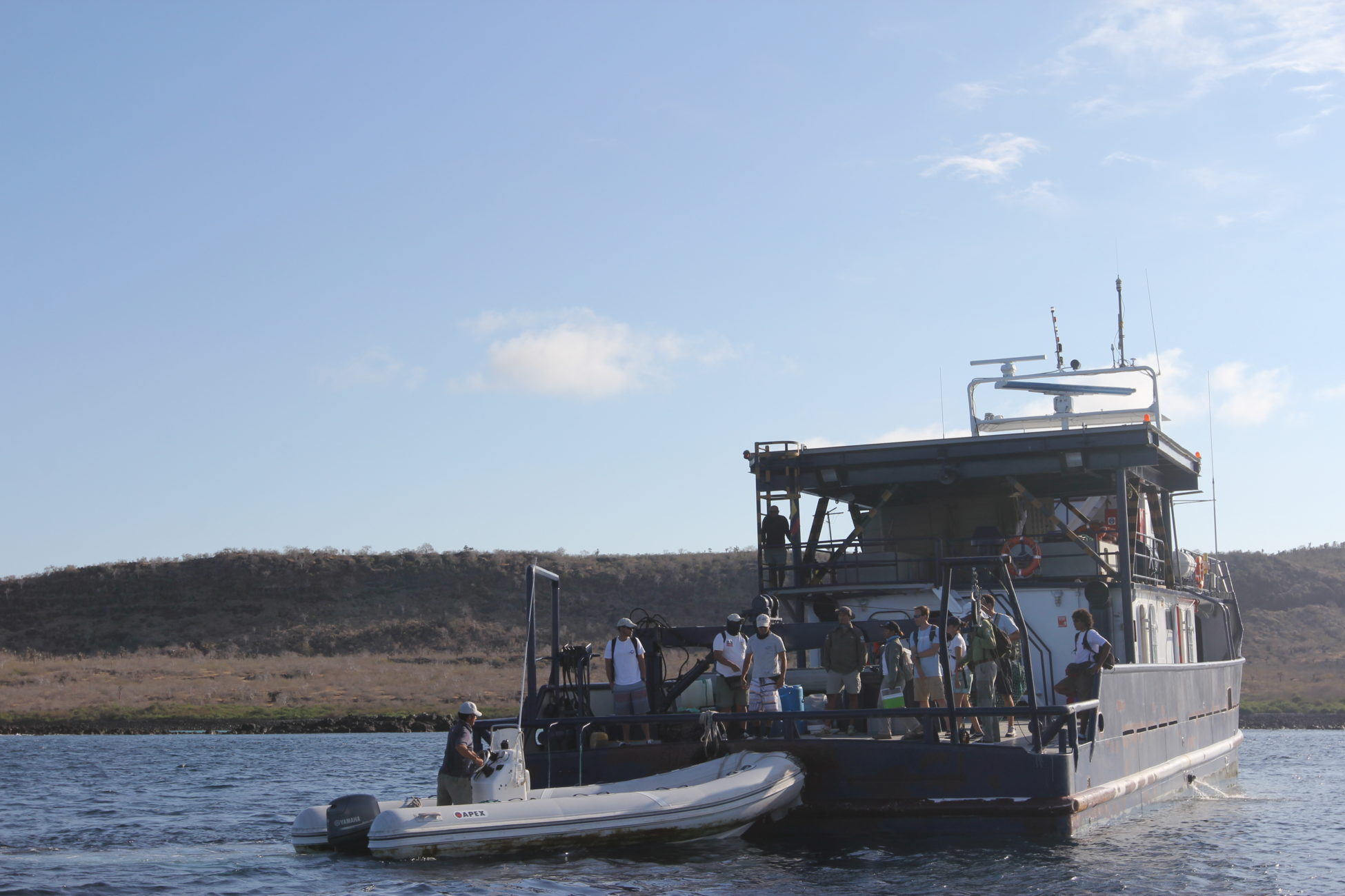 Picture of the Sierra Negra, a zodiac boat.