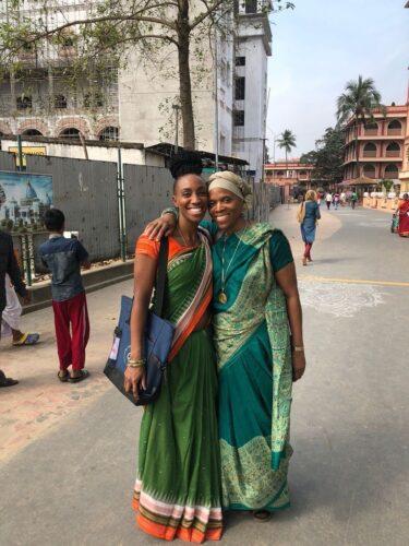 Ganga Bey and her mother