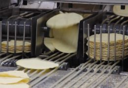 Image of a machine sorting tortillas