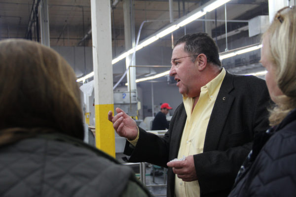 Enrique Elizondo gives a tour of Tortillas Carolina in St. Pauls.