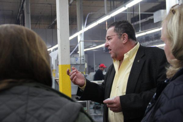 Enrique Elizondo gives a tour of Tortillas Carolina in St. Pauls.