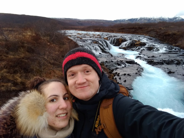 Oliver Lamb and his girlfriend Cecile in Iceland
