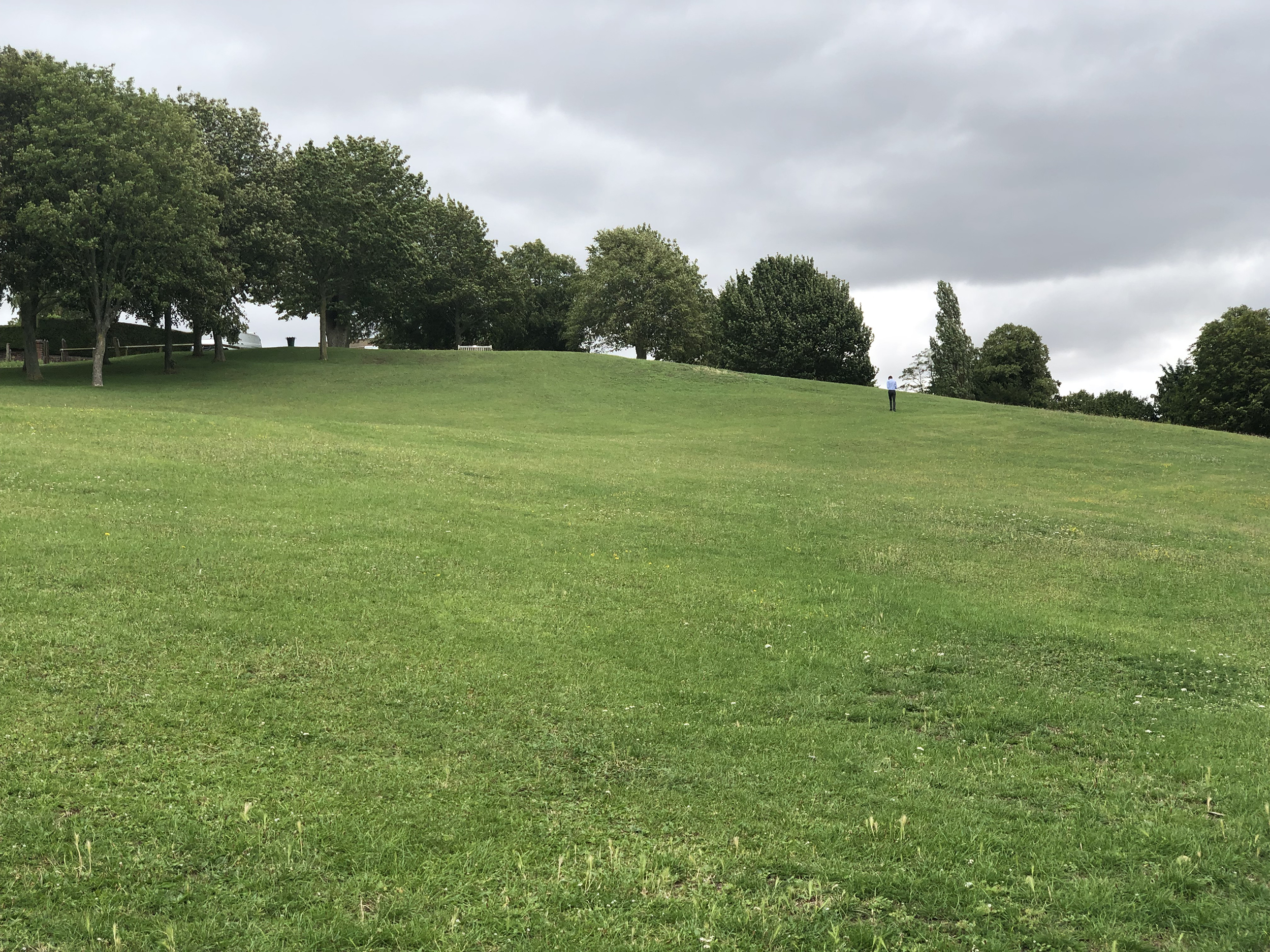 a green hill in Hitchin, U.K.