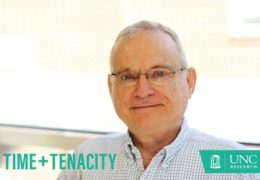 George McCoy moved to Chapel Hill in 1971 to be closer to UNC — an epicenter for hemophilia research. For more than 40 years, he's participated in clinical trials and was the first person in the world to receive synthetic Factor VIII treatment (called recombinant Factor VIII) at UNC in 1987.