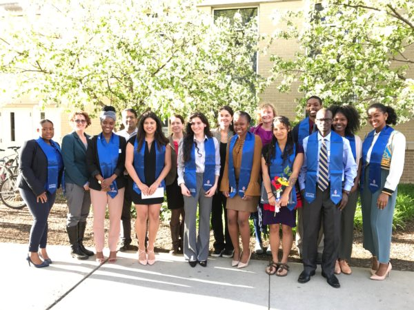 Kiara Childs with her cohort from the Ronald E. McNair program