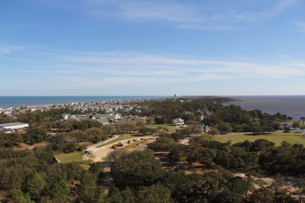 an aerial view of the Outer Banks
