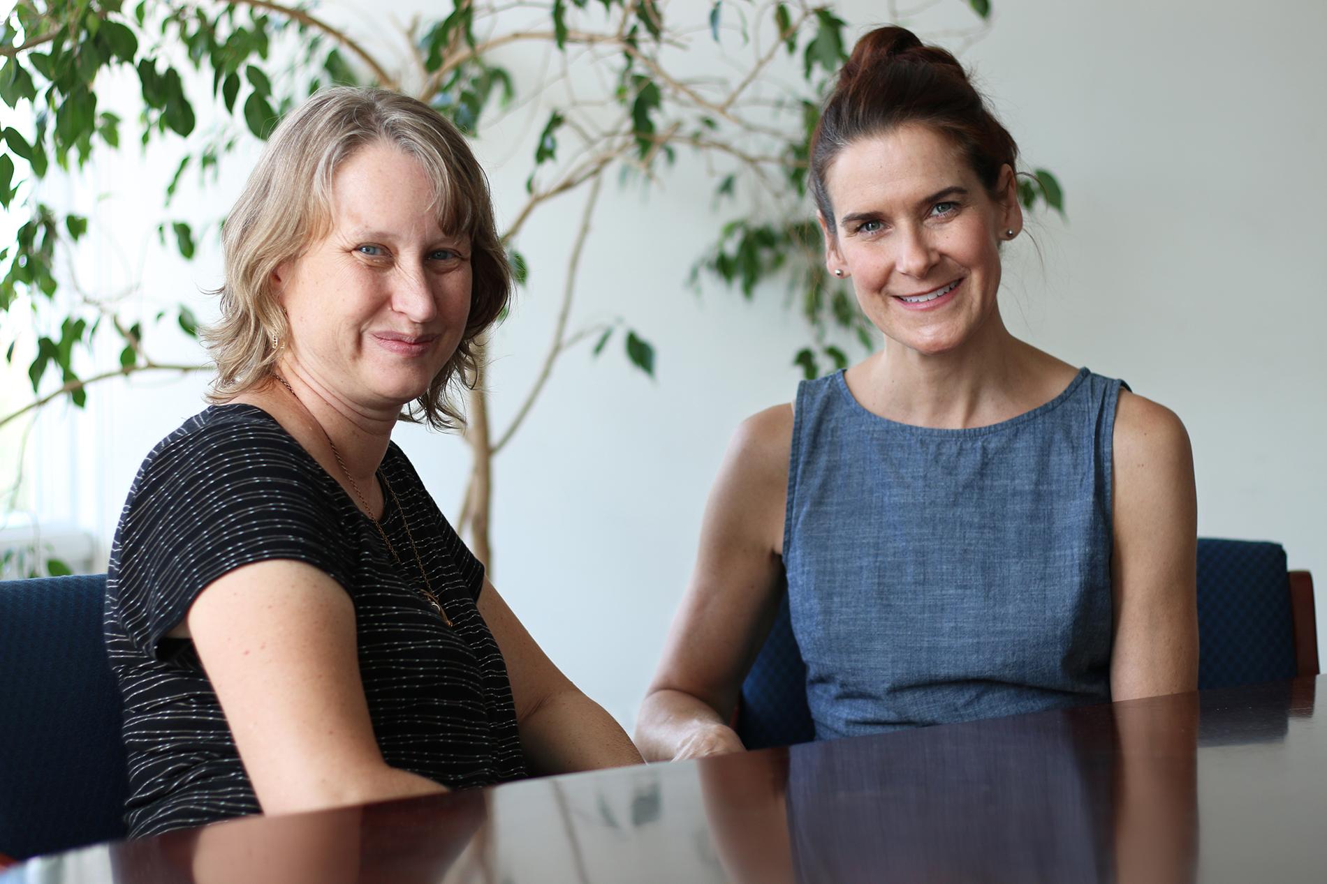 Andrea Hussong and Deborah Jones