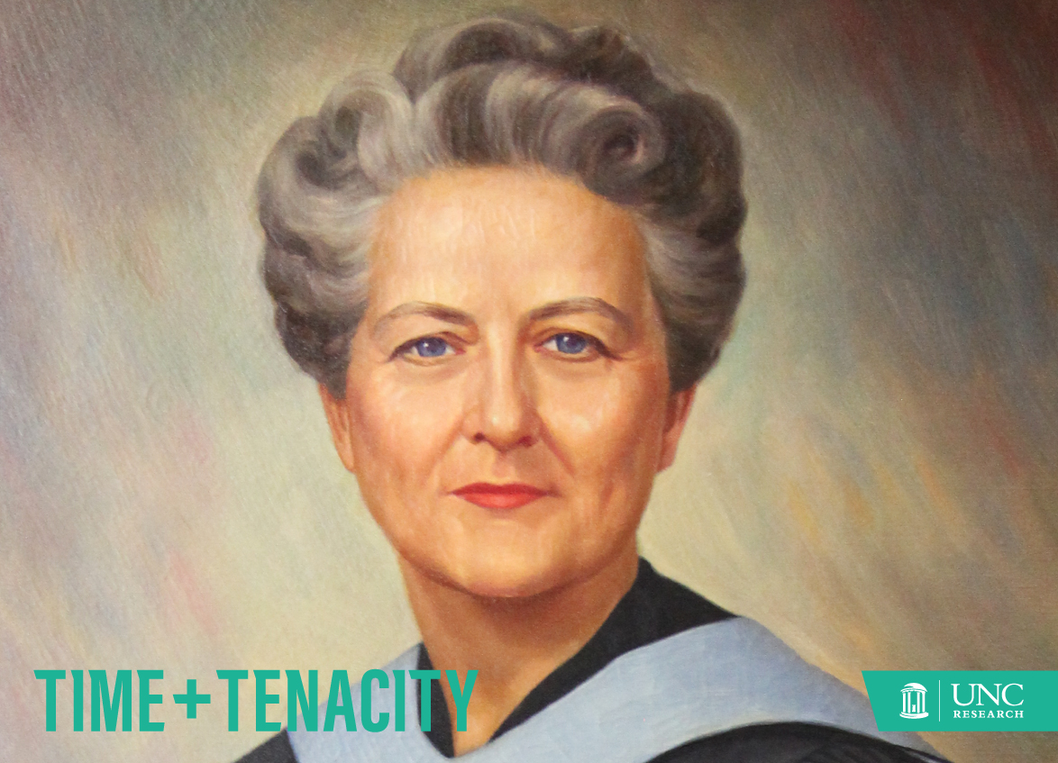 Portrait of Dean Kemble that hangs in the UNC School of Nursing