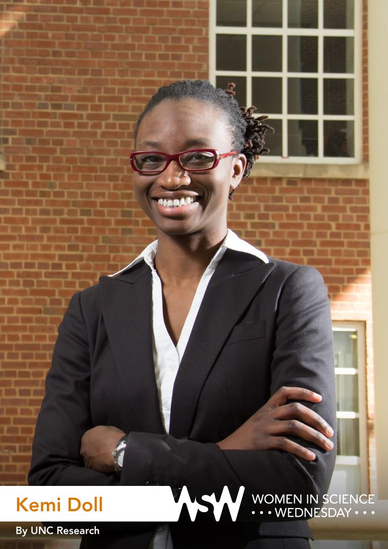 Portrait of Kemi Doll on campus.