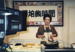 Fu Pei-mei cooks on her cooking show in the 1980s