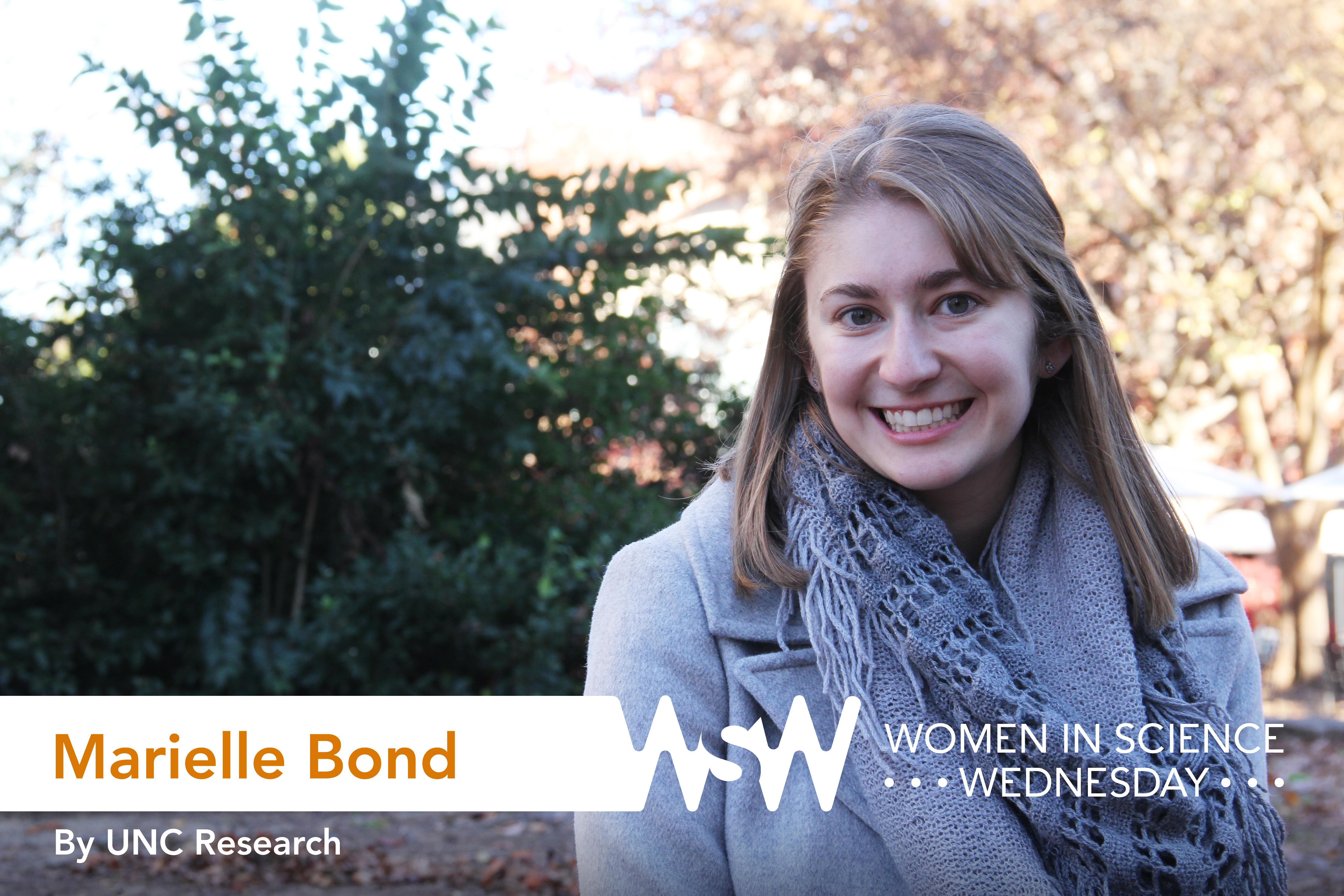 Portrait of Marielle Bond on campus.