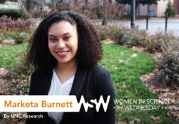 Portrait of Marketa Burnett on campus