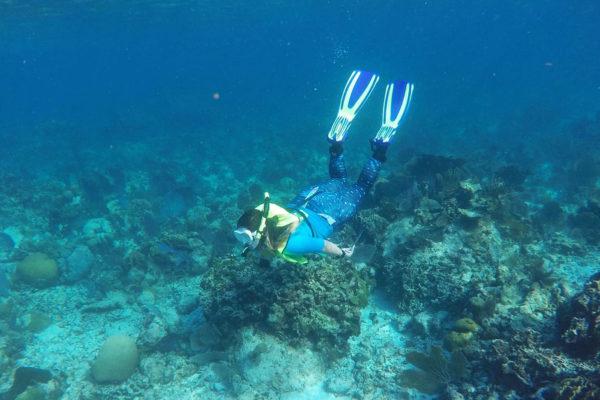 Mollie Yacano snorkeling