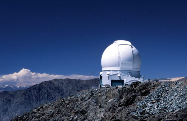 a telescope in the mountains