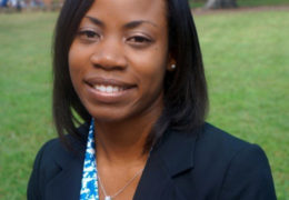 Portrait of Sharonda LeBlanc on campus.