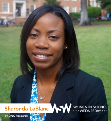 Portrait of Sharonda LeBlanc on campus.