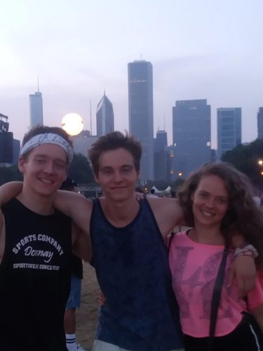 This past summer, Bauer visited Chicago with her two brothers.