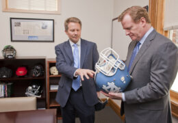 Kevin Guskiewicz and Roger Goodell