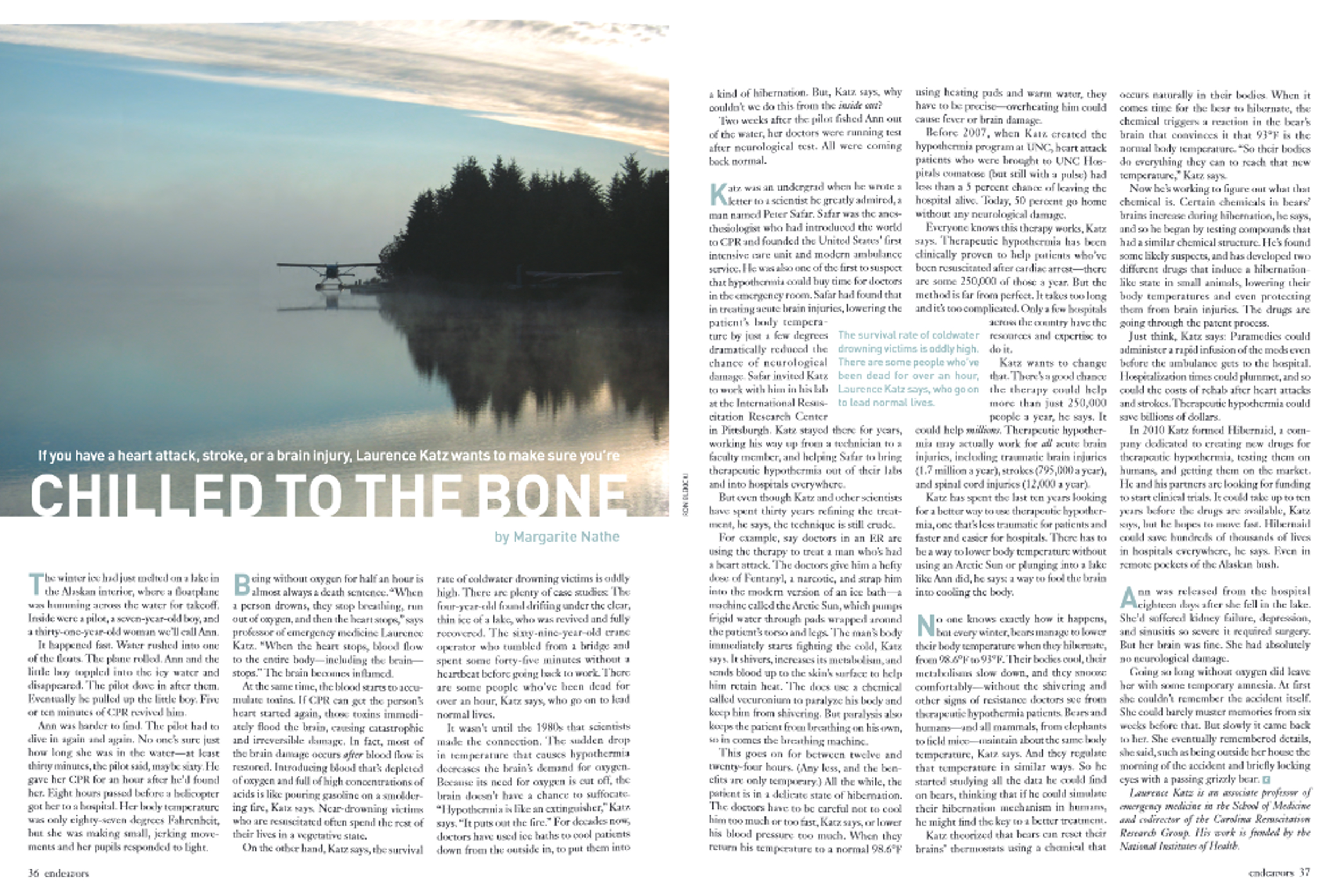 Endeavors spread of 2011 article