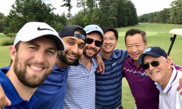 Sing Sai Wong and friends golfing