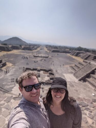 Christina Rudosky and her husband in Mexico City