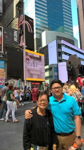 Rainier Masa and his mother
