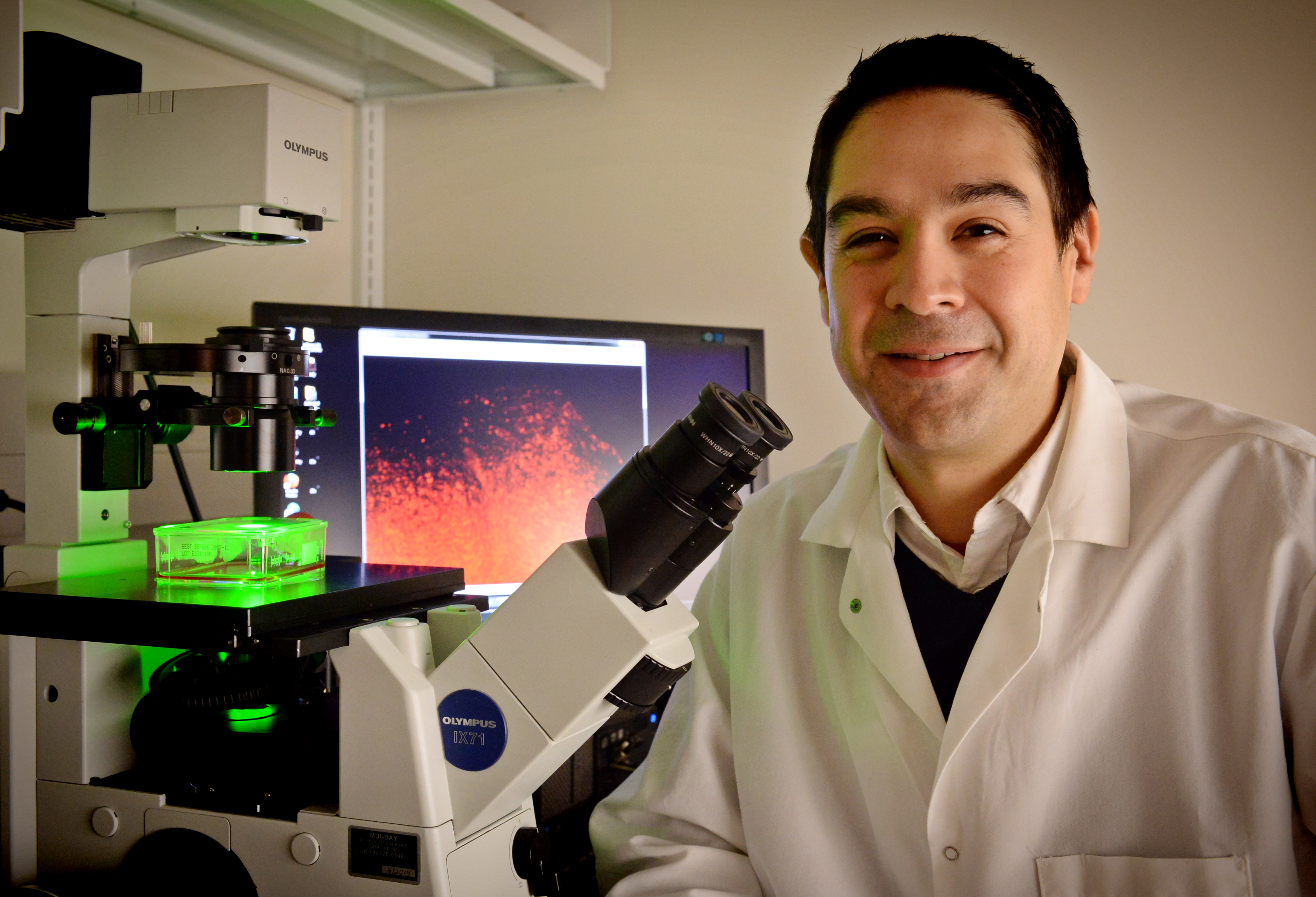 Shawn Hingtgen poses in his lab