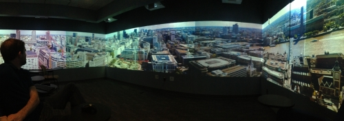David Borland, a senior visualization researcher at RENCI, explains the technology contributing to a 360-degree view of London.