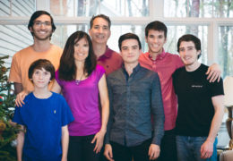 Photo courtesy of Jacqueline MacDonald GibsonGibson with her husband, three sons, and two stepsons.